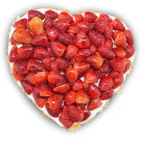 Heart Strawberry Cake (LL-059)