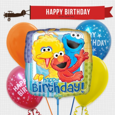 (KBB32) Kids Birthday Balloon 08