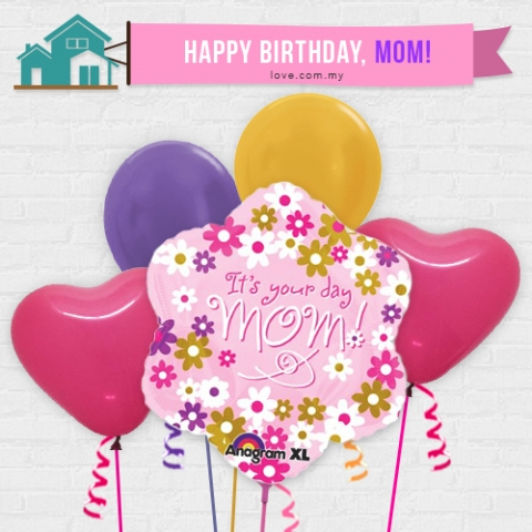 (IBB02) Birthday Balloon For Mom