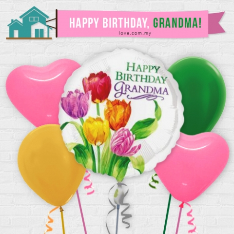 (IBB05) Birthday Balloon For Grandma
