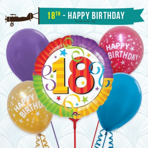 (BCA02) 18th Birthday Balloon