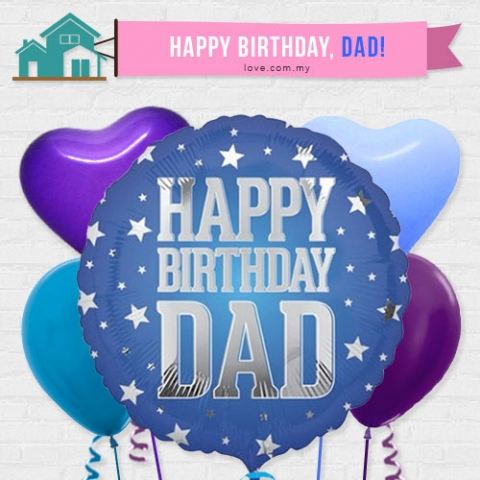 (IBB10) Birthday Balloon For Dad