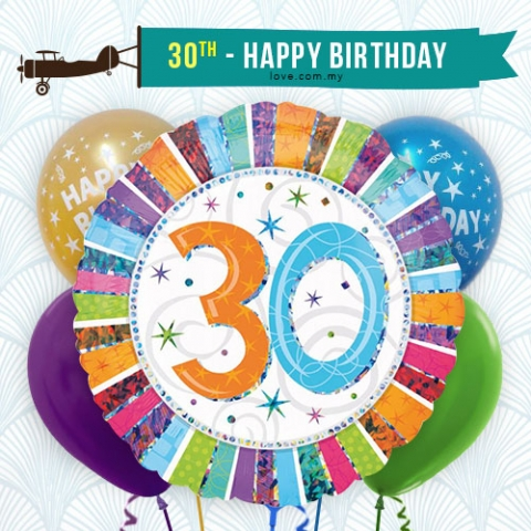 (BCA16) 30th Birthday Balloon