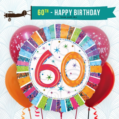 (BCA18) 60th Birthday Balloon