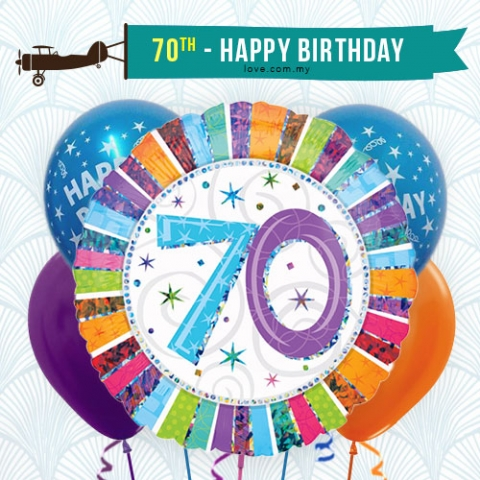 (BCA19) 70th Birthday Balloon