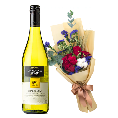 Wyndham Estate - Chardonnay (Australia) & Flower Bouquet