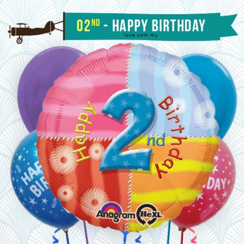 (BCA22) 2nd Birthday Balloon