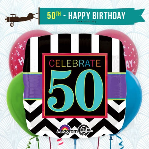 (BCA26) Celebrate 50 Birthday Balloon