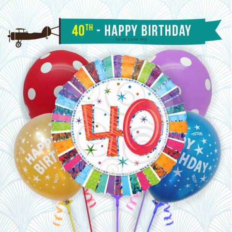 (BCA30) 40th Birthday Balloon