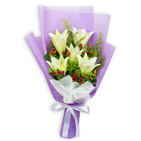 Lily Hand Bouquet 01