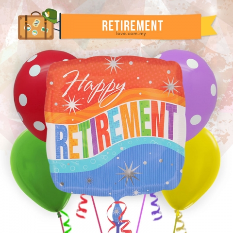 (ECB09) Happy Retirement Balloon