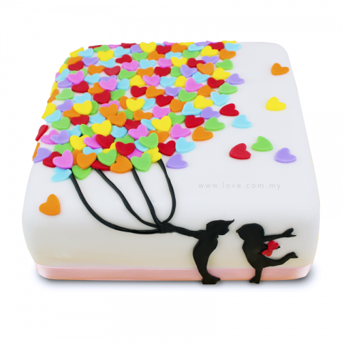 Balloons Of Love Cake