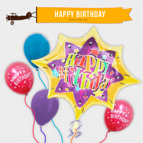 (BCB19) Birthday Celebration Balloon 19