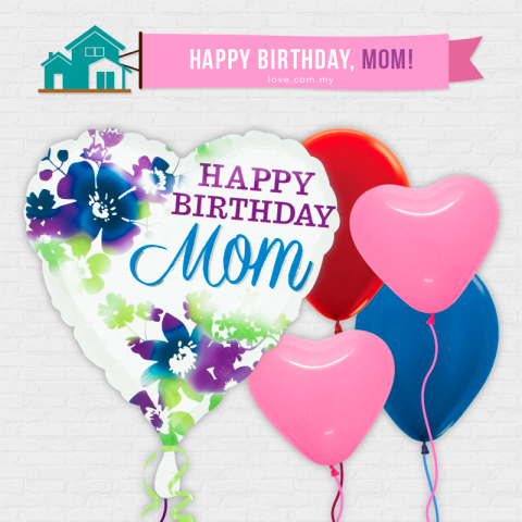 (IBB01) Birthday Balloon For Mom