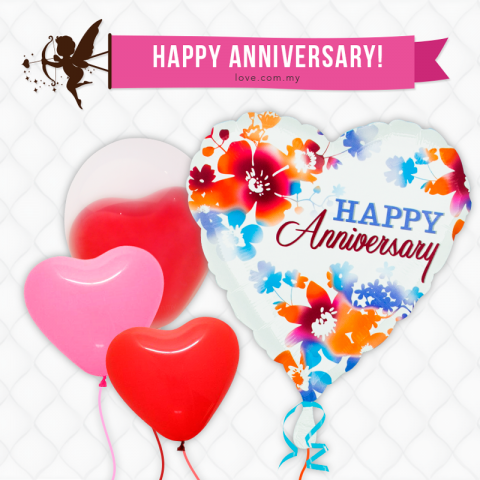 (ECB03) Happy Anniversary Love Balloon