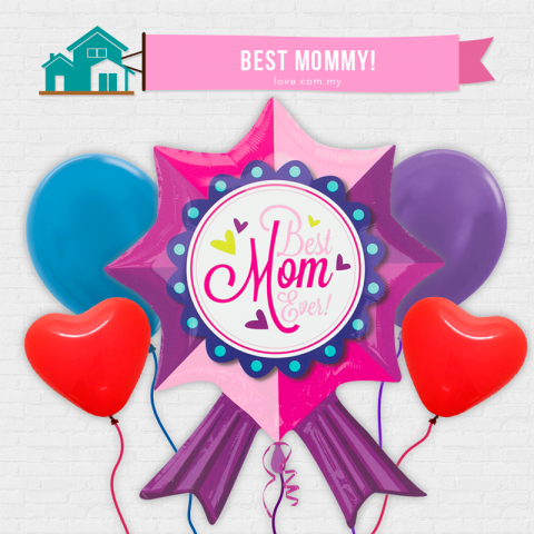 IBB04 Best Mom Ever Balloon