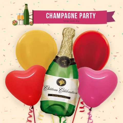 (ECB19) Champagne Bottle Balloon