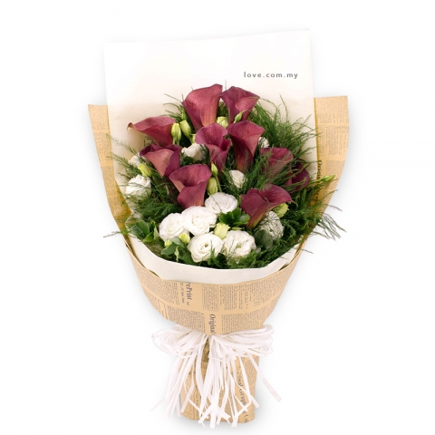 Imported Calla Lily Bouquet 01