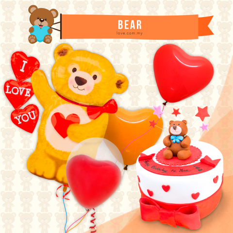 Bear Birthday Set 06