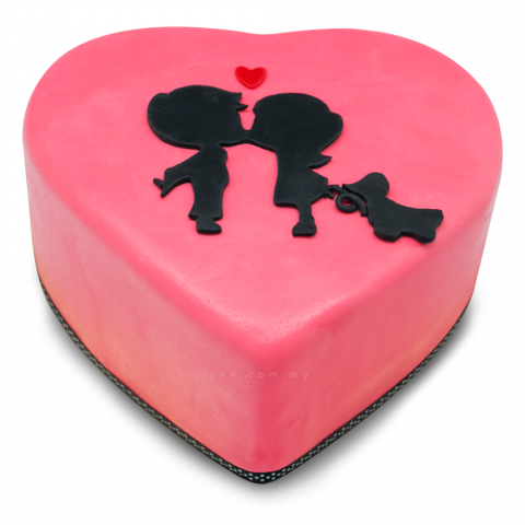 Valentine Couple Cake