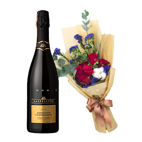 Sanfeletto - Prosecco (Sparkling Wine) & Flower Bouquet