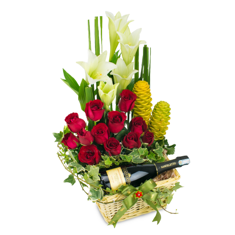 New Wine & Flower Arrangement 03