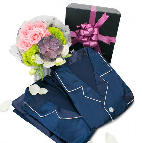 Navy Blue Sleepwear for Couples