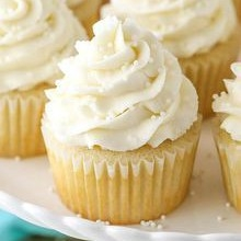 Delicious Cupcakes - Vanilla White - Set of 6/12/24 pc (LL-037)