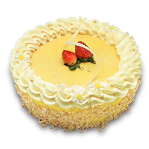 Peach Chamomile Mousse Cake 01 (LL-073)
