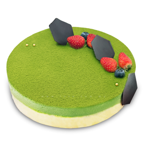 Green Tea White Chocolate Mousse Cake 01 (LL-083)