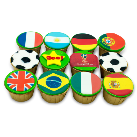 2018 World Cup - Nation Flags Cupcakes