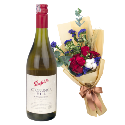 Penfolds Koonunga Hill Chardonnay & Flower Bouquet