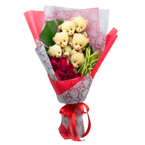 Bear Bouquet 28 (FB393)