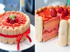 Strawberry Mousse and Sponge Finger
